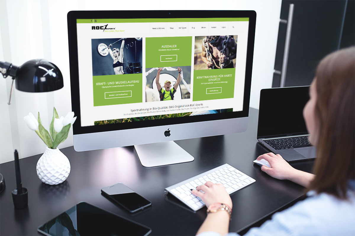 medienvirus - WordPress und WooCommerce aus Berlin - Onlineshop für RoC-Sports - Wir warten Ihren WooCommerce Onlineshop
