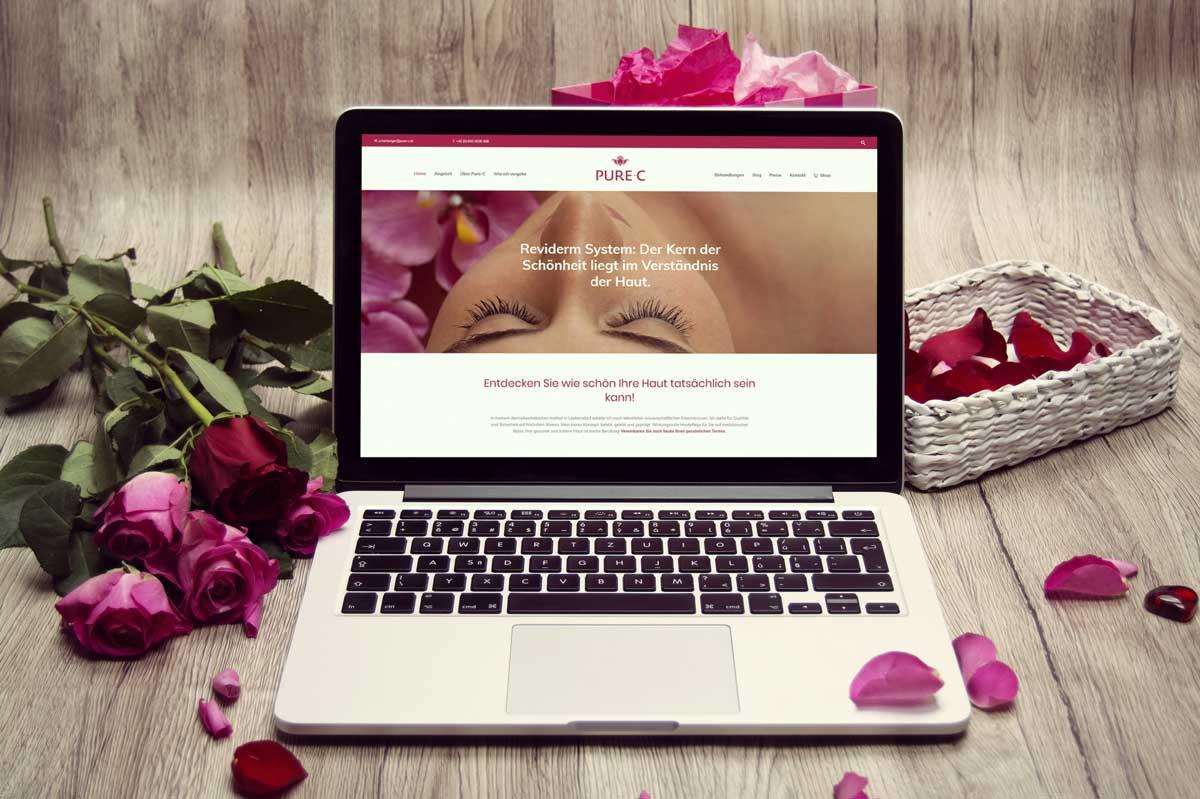 medienvirus - WordPress & WooCommerce aus Berlin - neue Webseite für Pure-C - Responsive Webdesign