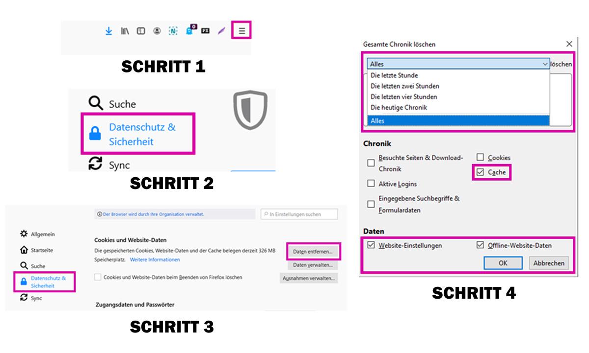medienvirus.de - FAQ - Den Browser-Cache richtig löschen - Firefox