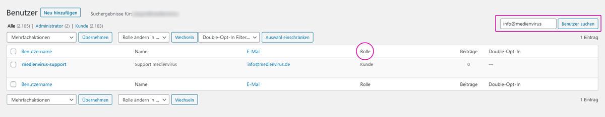 medienvirus.de - FAQ - Warum können sich meine Kunden nicht einloggen?