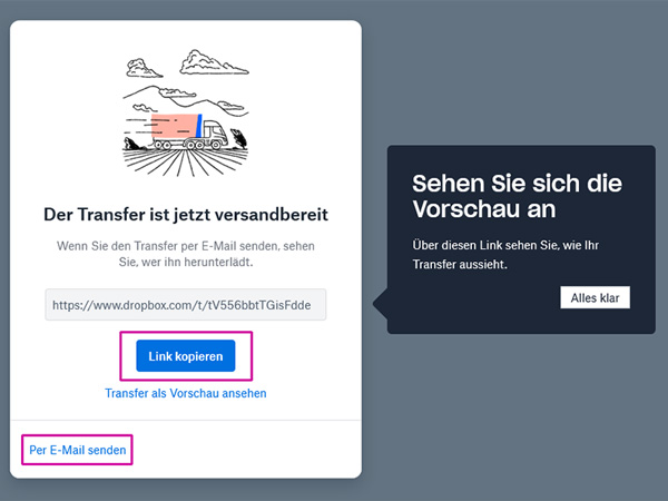 medienvirus.de - FAQ - Wie kann ich euch mein Material senden? - Dropbox