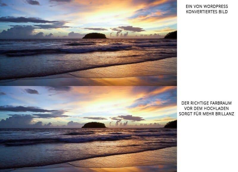 der richtige Farbraum von Bildern und die Konvertierung von WordPress - medienvirus