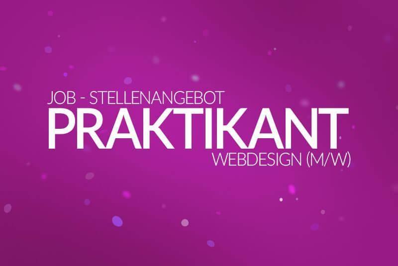 Job - Stellenanzeige - Webdesigner, Praktikant (m/w) 2017 - medienvirus