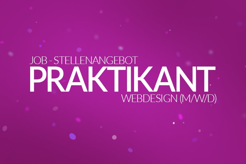 Job - Stellenanzeige - PraktikantIn Webdesign - (m/w/d) 2021 - medienvirus