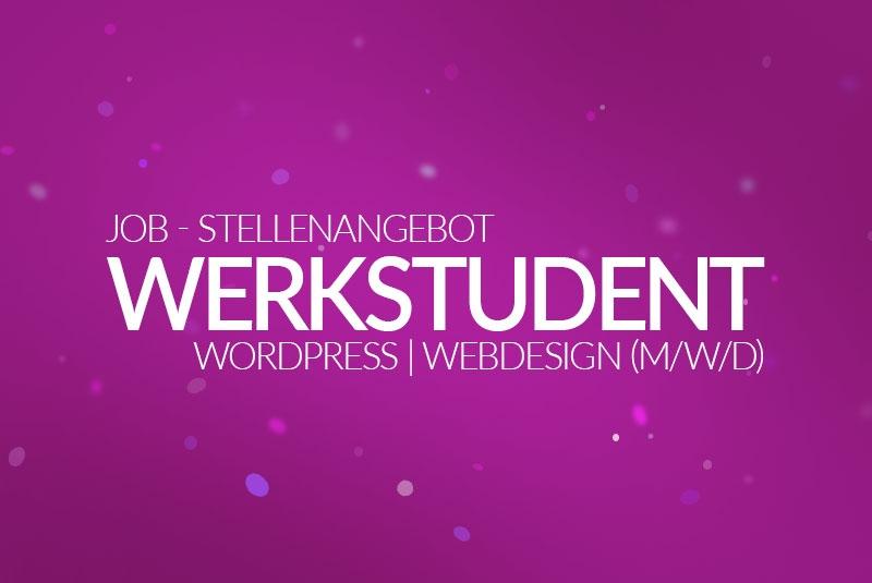 Job - Stellenanzeige - Werkstudent WordPress - Webdesign (m/w/d) 2021 - medienvirus