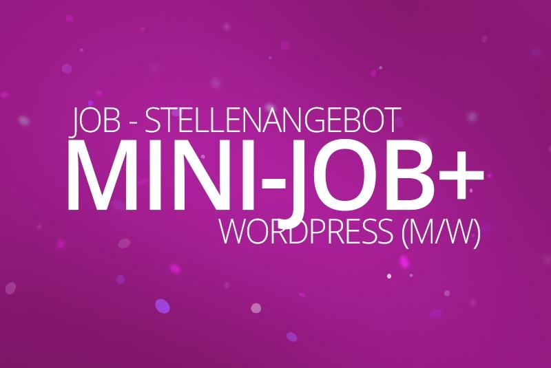 Mini Job+, WordPress & WooCommerce aus Berlin, Stellenanzeige - Webdesigner, Mini-Job+ (m/w) 2018 - medienvirus