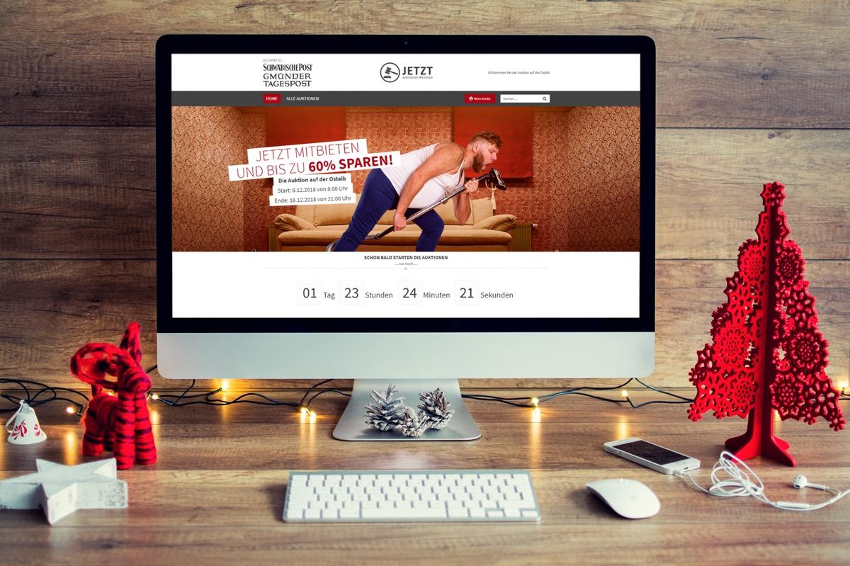 Ein neuer Onlineshop für Jetzt Auktion von medienvirus - WordPress & WooCommerce aus Berlin - responsive Webdesign