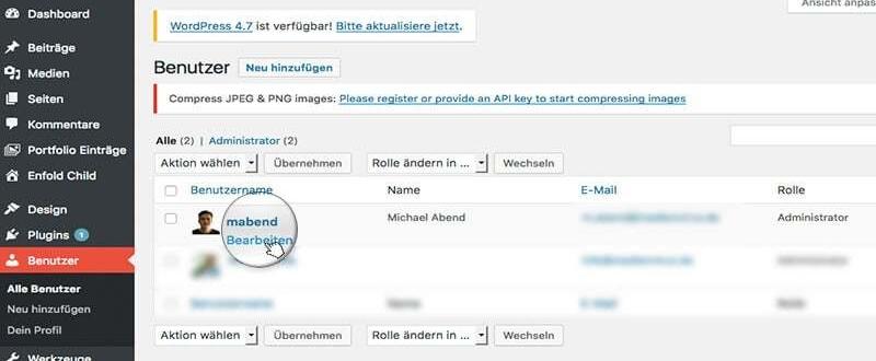 Wie man WordPress Admin - Farbschema anpasst.
