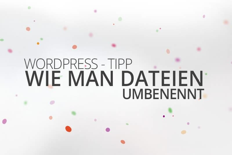 WordPress aus Berlin Dateien umbenennen by medienvirus get infected