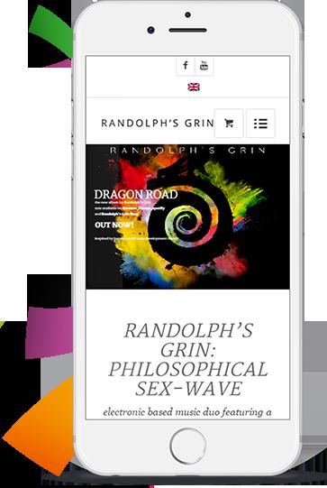 WordPress aus Berlin - Musiker Website - Portfolio Randolphs Grin by medienvirus - get infected - 02