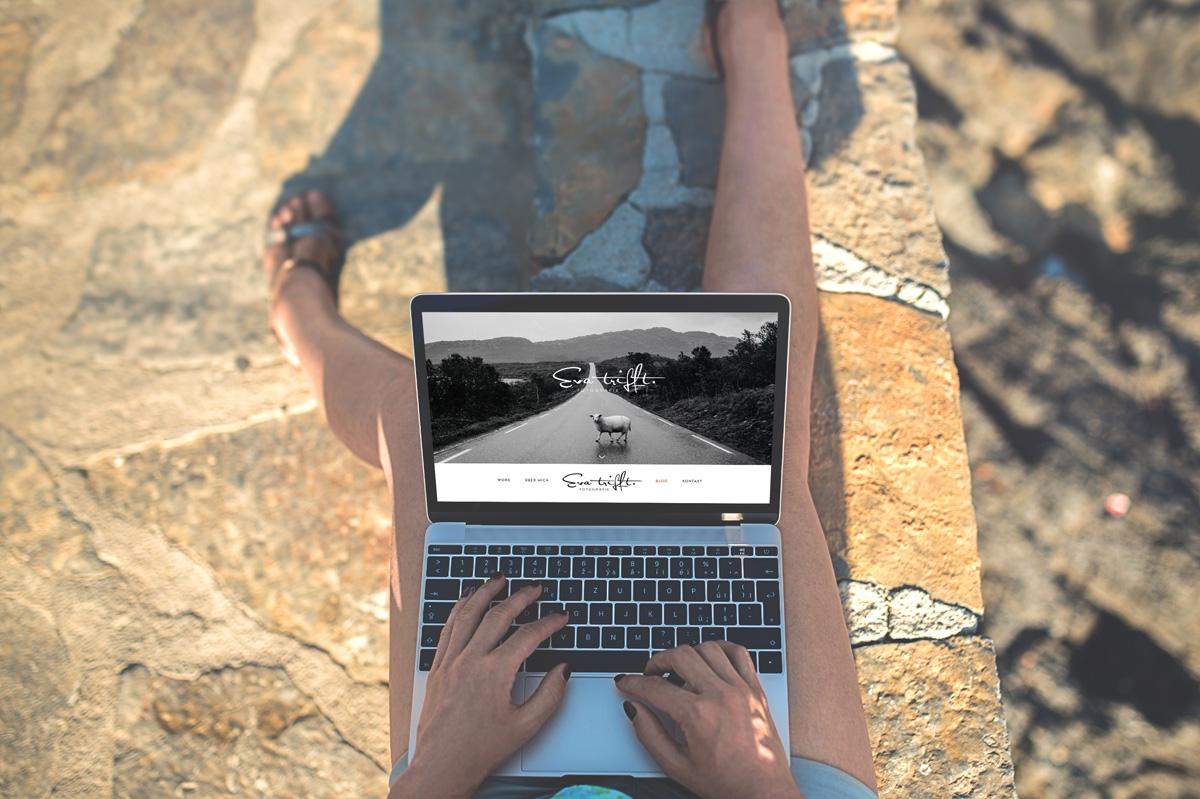 medienvirus - WordPress & WooCommerce aus Berlin - neue Webseite für Evatrifft - selbstständige Fotografin - Eventfotografin - Responsive Webdesign