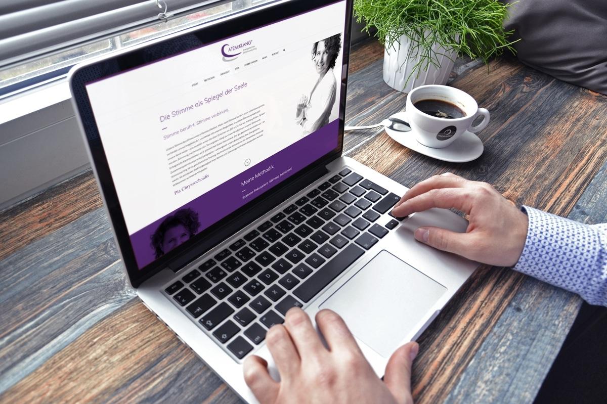 Eine neue Website für ATEM:KLANG von medienvirus - WordPress & WooCommerce aus Berlin - responsive Webdesign
