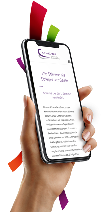 medienvirus - WordPress & WooCommerce aus Berlin - neue Webseite für ATEM:KLANG - Responsive Webdesign