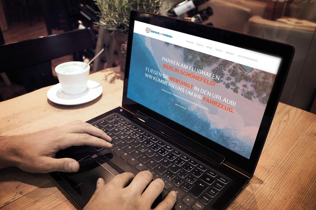 Eine neue Website für einfach gut parken von medienvirus - WordPress & WooCommerce aus Berlin - responsive Webdesign