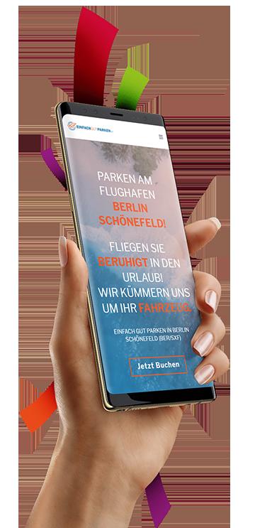 medienvirus - WordPress & WooCommerce aus Berlin - neue Webseite für einfach-gut-parken - Responsive Webdesign