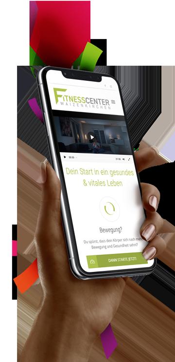 medienvirus - WordPress & WooCommerce aus Berlin - neue Webseite für Fitnesscenter Waizenkirchen - Responsive Webdesign