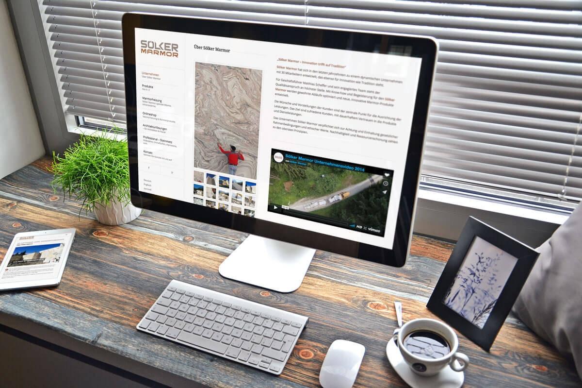 WordPress aus Berlin - Neue Website für die Bergbaugesellschaft von Sölker Marmor - Responsive Webdesign