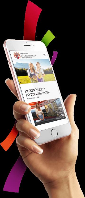WordPress aus Berlin - Neue Website für die Dorfkäserei Pötzelsberger - Responsive Webdesign