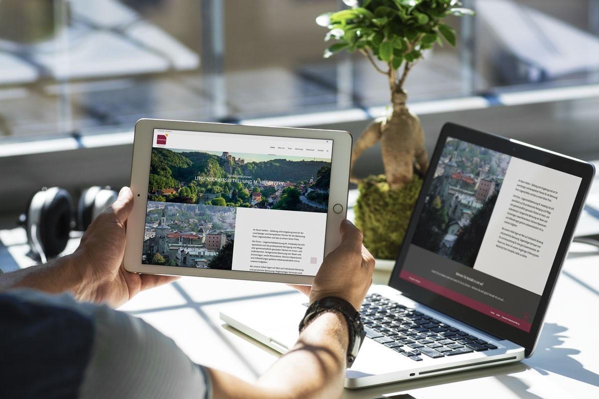 WordPress aus Berlin - Neue Website für die Hausbetreuung Hradetzky - Responsive Webdesign