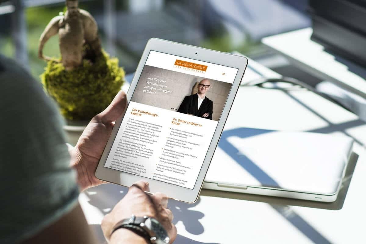 WordPress aus Berlin - Neue Website für Dr. Dieter Lederer - Responsive Webdesign