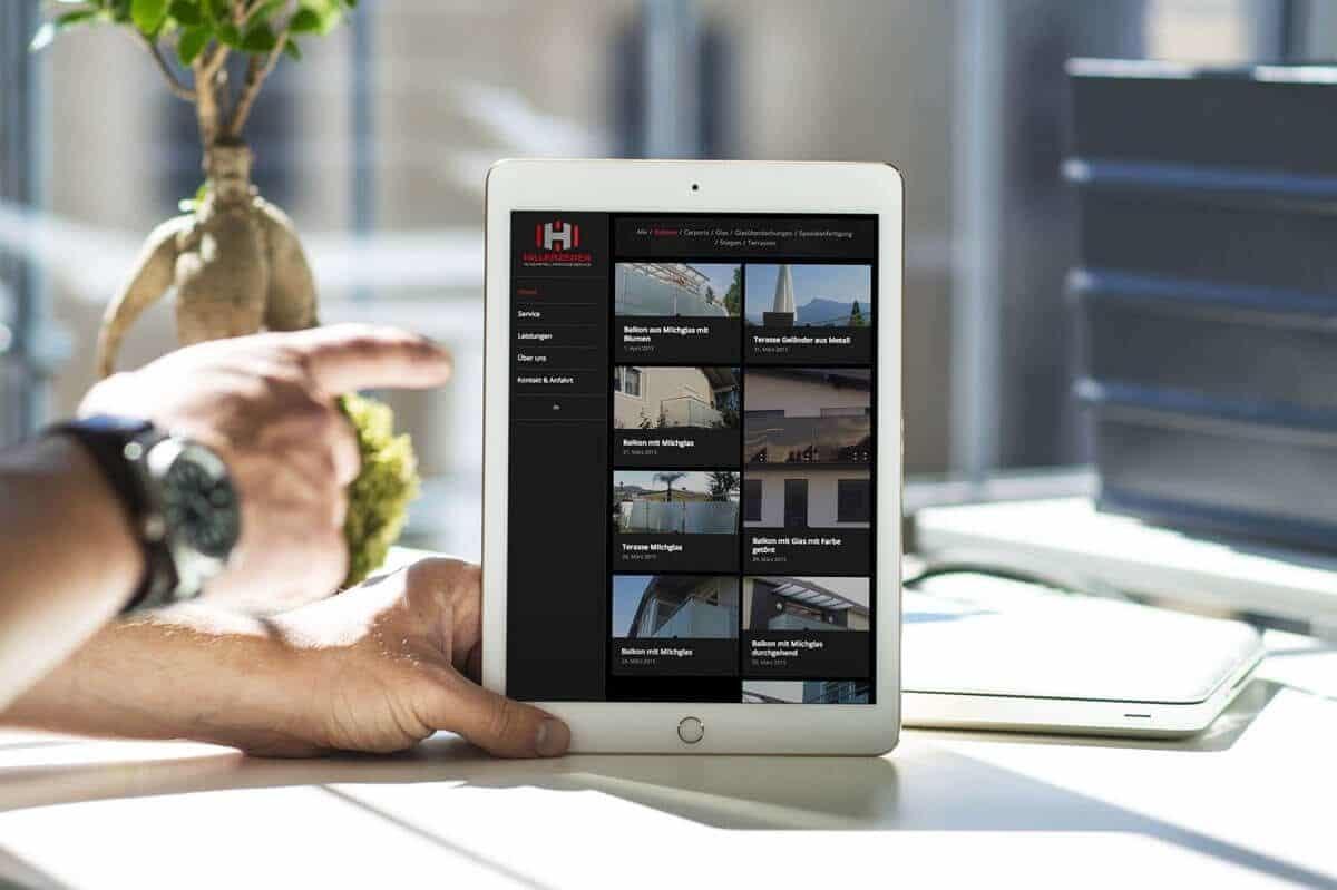 WordPress aus Berlin - Neue Website für Hillerzeder - Glas, Metall & Montageservice - Responsive Webdesign