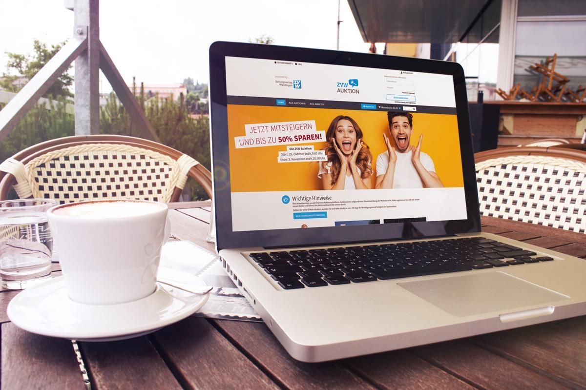 medienvirus - WordPress & WooCommerce aus Berlin - neue Webseite für die Gutscheinauktion ZVW