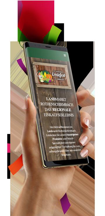 medienvirus - WordPress & WooCommerce aus Berlin - neue Webseite für Landmarkt Rothenschirmbach - Responsive Webdesign