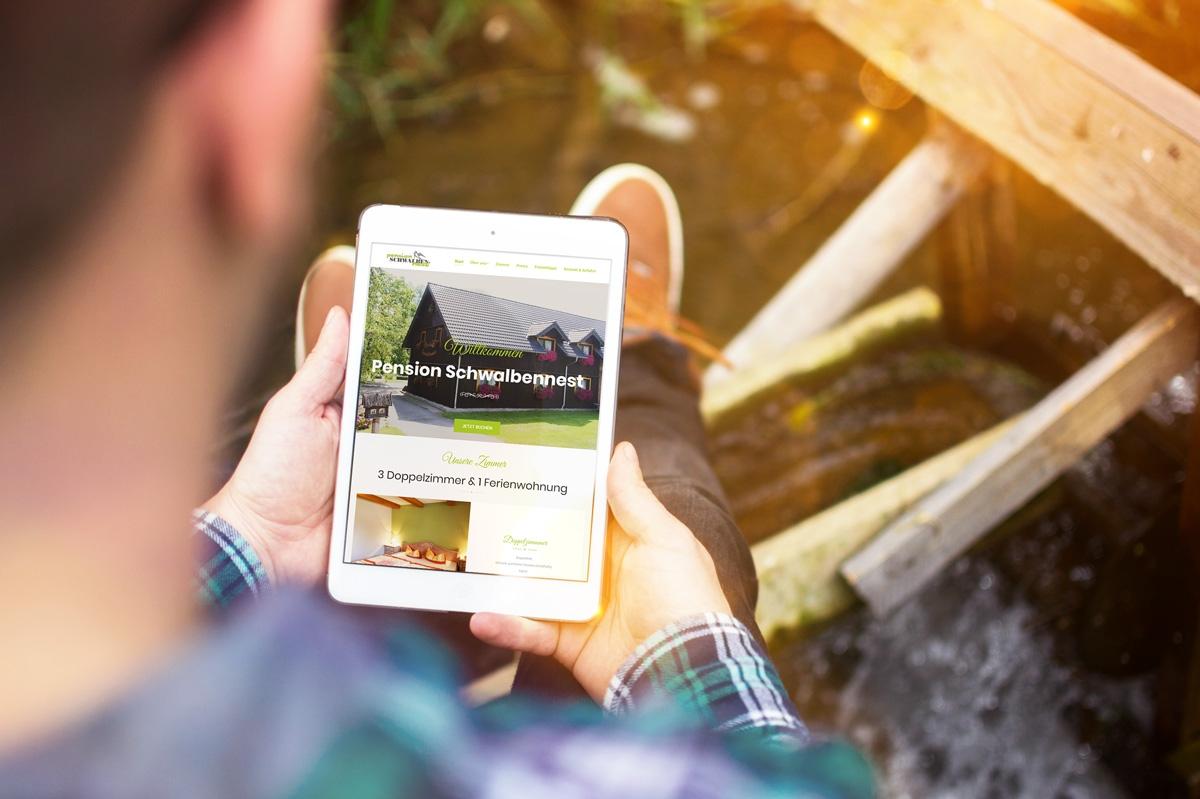 medienvirus - WordPress & WooCommerce aus Berlin - neue Webseite für die Pension Schwalben-Nest - Responsive Webdesign