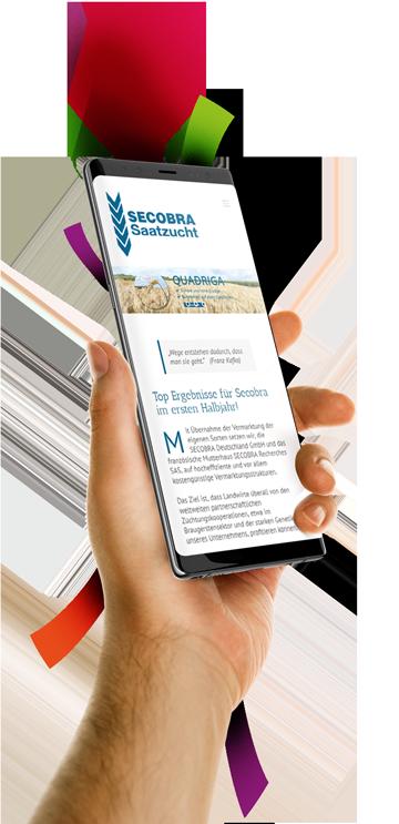 medienvirus - WordPress & WooCommerce aus Berlin - neue Webseite für Secobra Saatzucht - Responsive Webdesign
