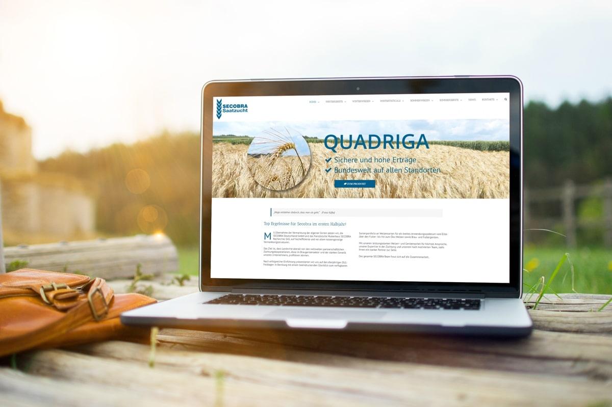 Eine neue Website für die Secobra Saatzucht GmbH von medienvirus - WordPress & WooCommerce aus Berlin - responsive Webdesign