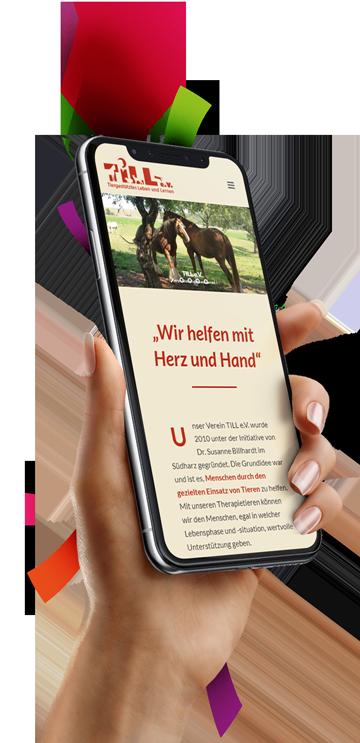 medienvirus - WordPress & WooCommerce aus Berlin - neue Webseite für TILL e.v. - Responsive Webdesign