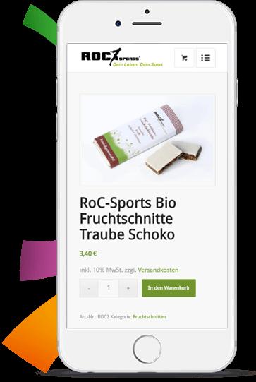 WordPress aus Berlin - Online-Shop Website - Portfolio Roc Sports by medienvirus - get infected - 2