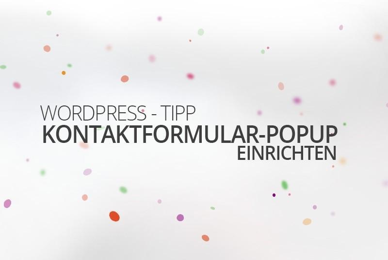 WordPress Kontakt Popup einrichten