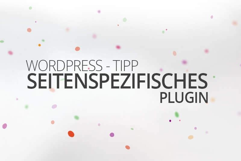 Wordpress seitenspezifisches Plugin. Die Berliner Wordpress Agentur medienvirus zeigt Dir, wie es geht.