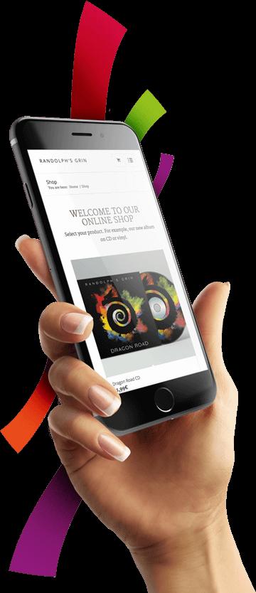WordPress & WooCommerce aus Berlin - Neue Website & Onlineshop für die Band Randolph's Grin - Responsive Webdesign